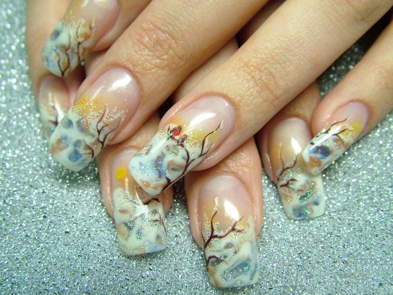 Видео по теме зимний дизайн ногтей 2011